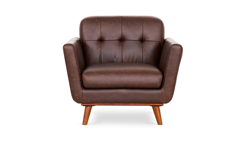 hans armchair leather material=pecan