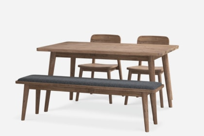 Seb Extendable Dining Table With Bench And 2 Chairs
