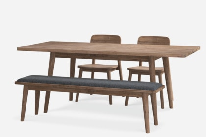 Swell Seb Extendable Dining Table With Bench And 2 Chairs Gmtry Best Dining Table And Chair Ideas Images Gmtryco