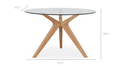 dimension of Bess Round Dining Table