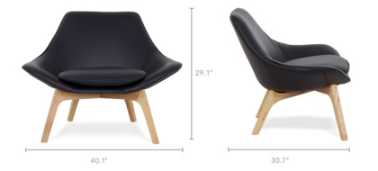 dimension of Gable Low Armchair Leather
