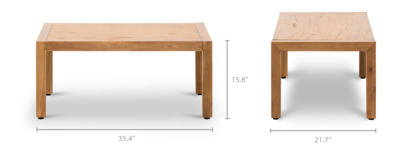 dimension of Alexander Coffee Table