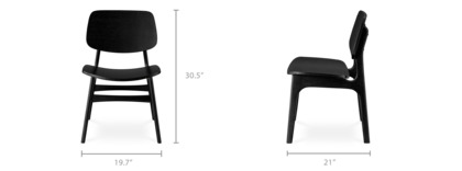dimension of Joshua Chair, Solid Color