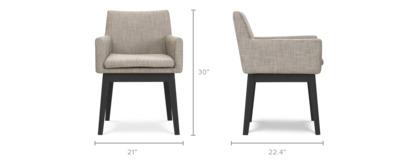 dimension of Lewis Arm Chair