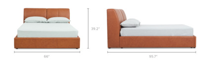 dimension of Todd Bed Leather