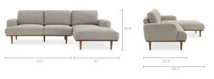 dimension of Henri Sectional Sofa