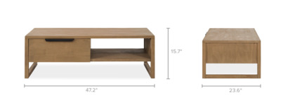 dimension of Logan Coffee Table, Long