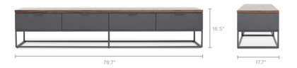 dimension of Alfred TV Stand