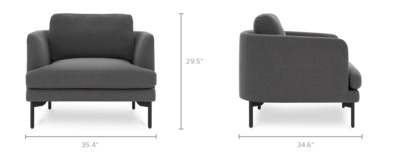 dimension of Pebble Armchair