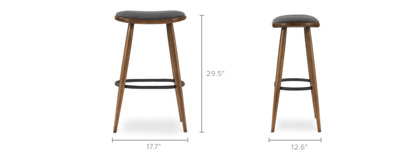dimension of Abel Bar Stool