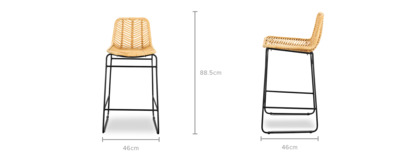dimension of Hagen Counter Stool