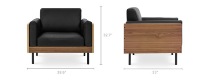 dimension of William Armchair Leather